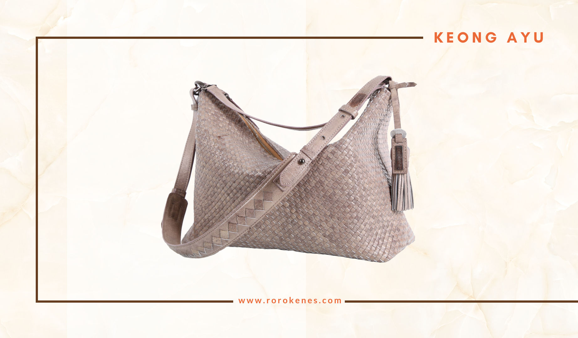 Woven Leather Bag Keong Ayu Rorokenes