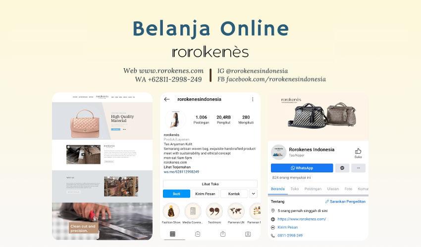 Belanja Tas Kulit Anyam Secara Online di Rorokenes