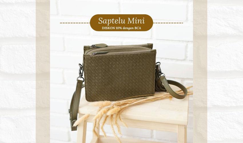 Clutch Bag Wanita Anyaman Kulit Saptelu Mini Rorokenes